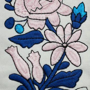 Машинна вишивка квіти