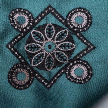 Машинна вишивка на тканині