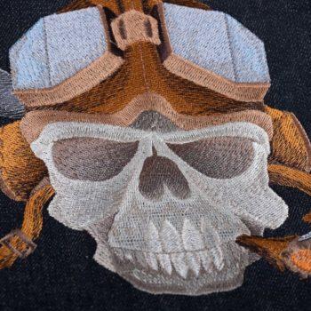 Машинна вишивка череп